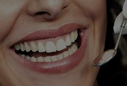 Closeup of smile during dental exam